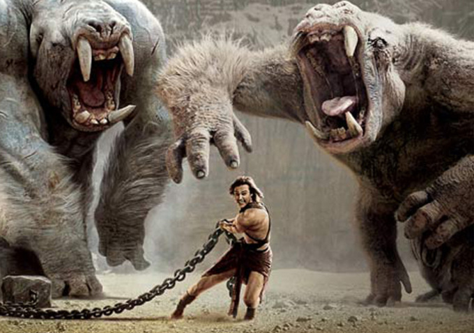 JOHN CARTER fighting the great white apes of Mars.